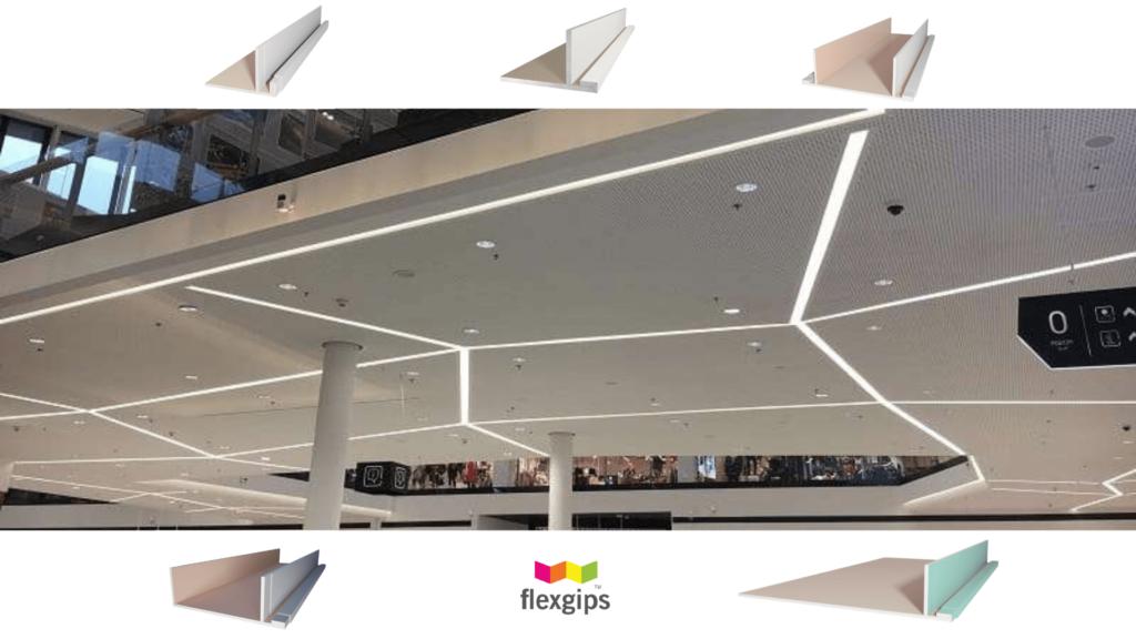 Półka sufitowa g-k LED